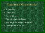 transitional characteristics