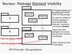 review package element visibility