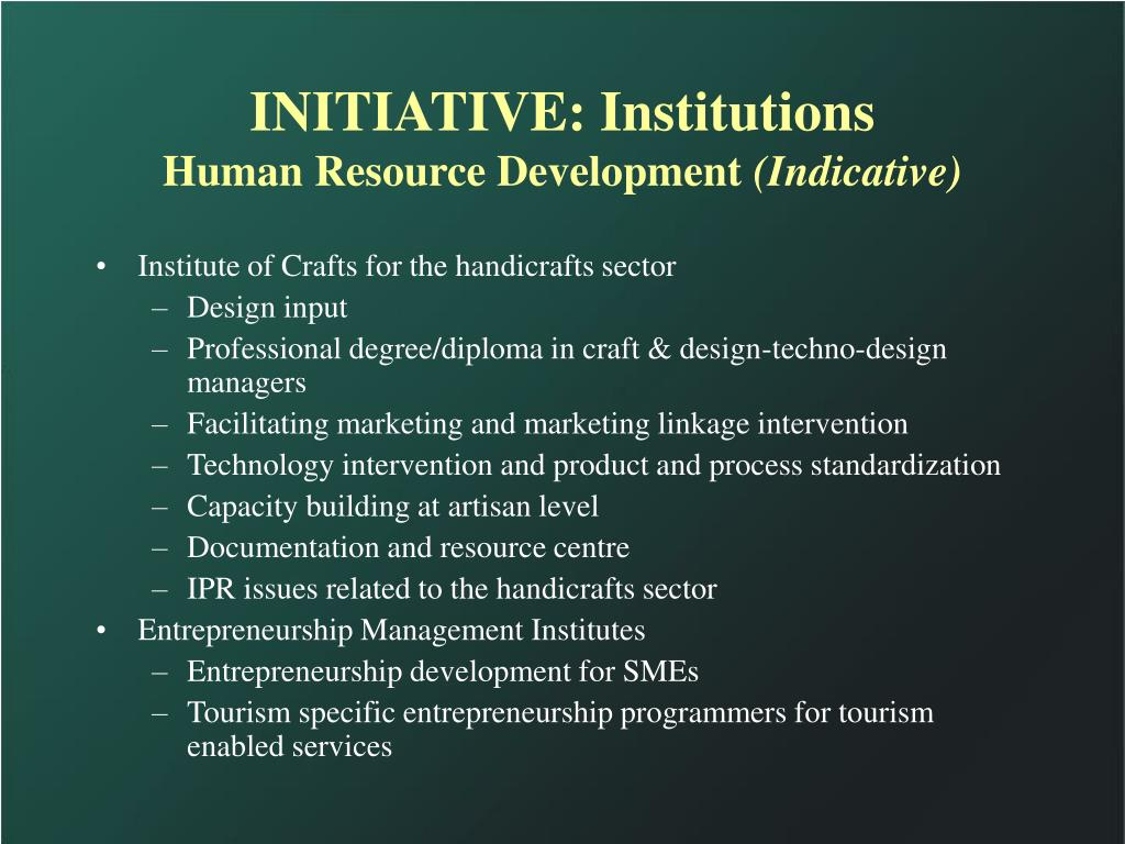 INITIATIVE: Institutions