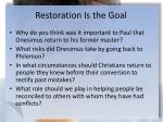 restoration is the goal1