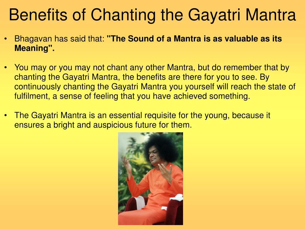 Benefits of Chanting the Gayatri Mantra