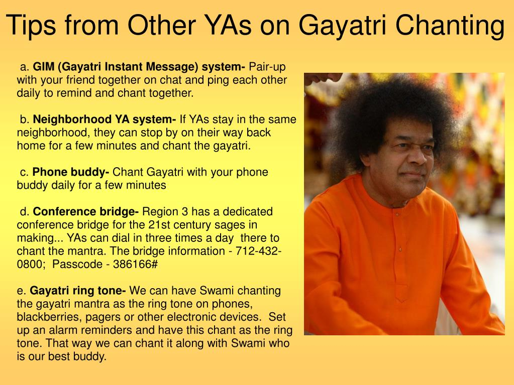 Tips from Other YAs on Gayatri Chanting