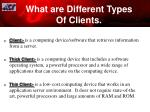 what are different types of clients