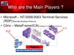 who are the main players