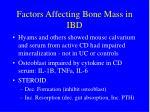 factors affecting bone mass in ibd