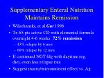 supplementary enteral nutrition maintains remission