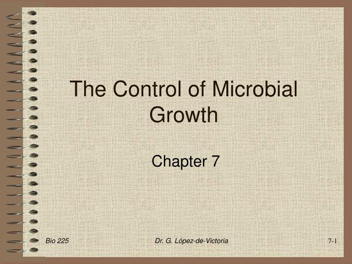 the control of microbial growth n.