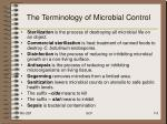 the terminology of microbial control