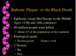 bubonic plague or the black death