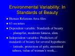 environmental variability in standards of beauty