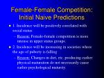female female competition initial naive predictions