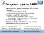 background impact of cauti