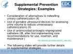 supplemental prevention strategies examples