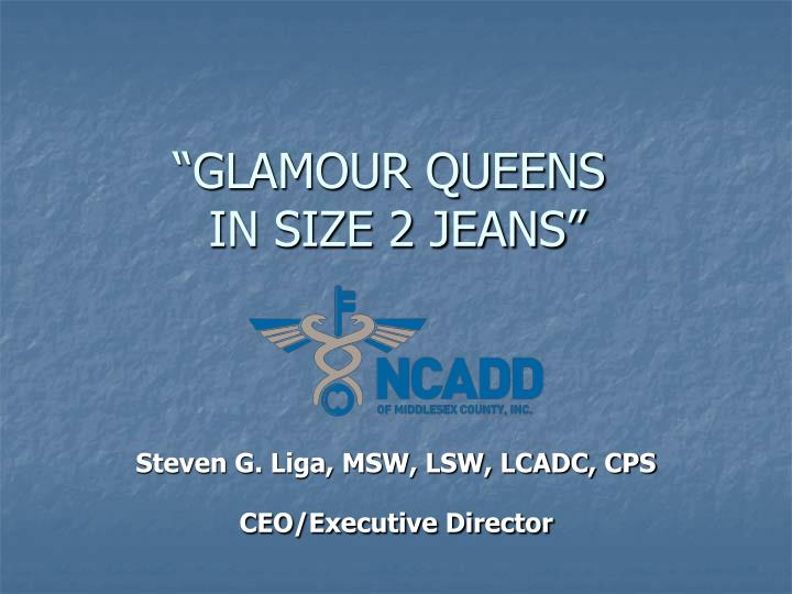 glamour queens in size 2 jeans n.