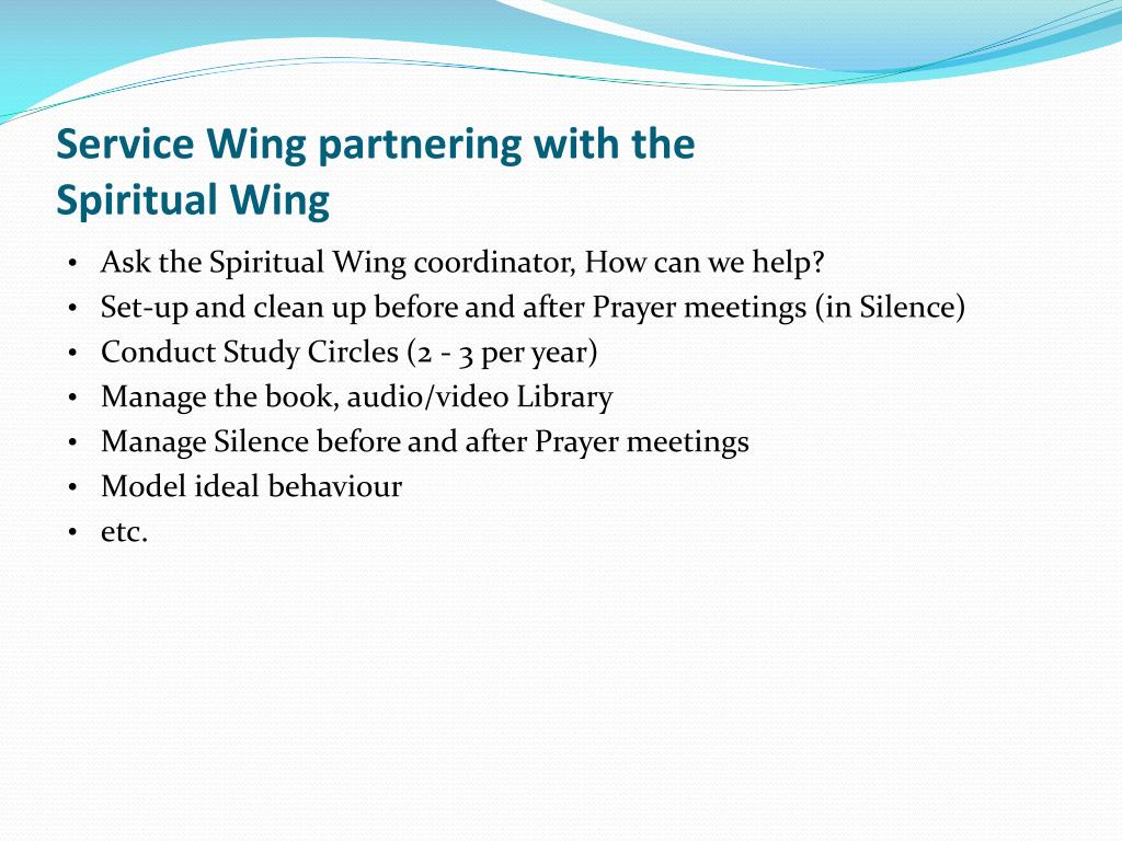 Service Wing partnering with the