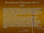 abandoned shipwreck act of 1987