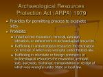 archaeological resources protection act arpa 1979