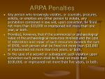 arpa penalties