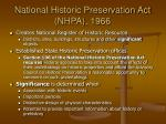 national historic preservation act nhpa 1966