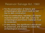 reservoir salvage act 1960