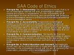 saa code of ethics