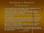 standards of research performance