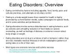 eating disorders overview
