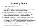 gambling terms