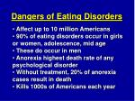 dangers of eating disorders