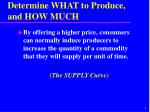 determine what to produce and how much1