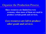 organize the production process9
