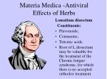 materia medica antiviral effects of herbs