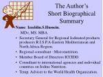 the author s short biographical summary