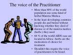 the voice of the practitioner