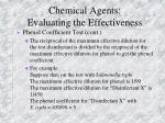 chemical agents evaluating the effectiveness1