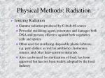 physical methods radiation1