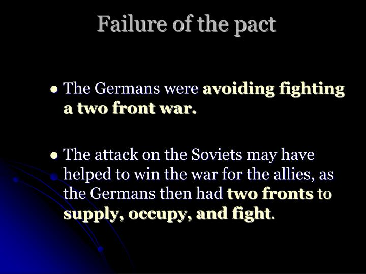 Failure of the pact