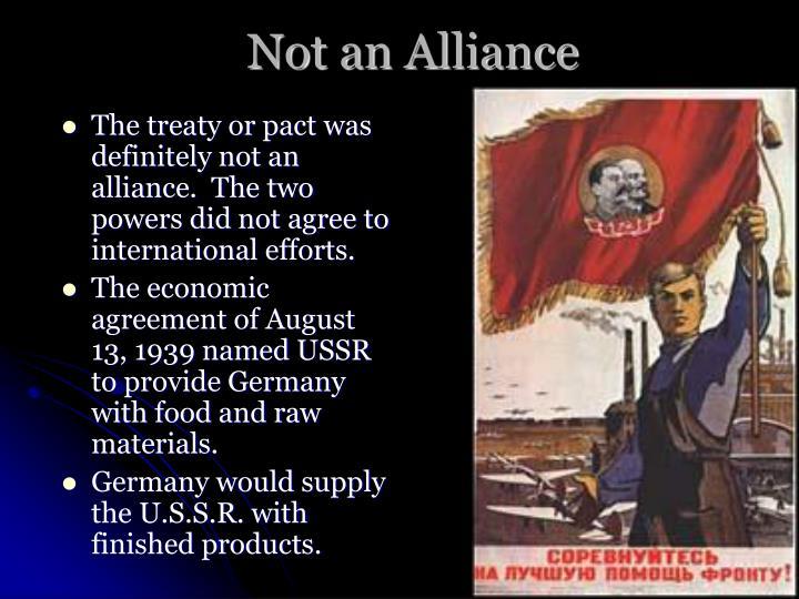 Not an Alliance