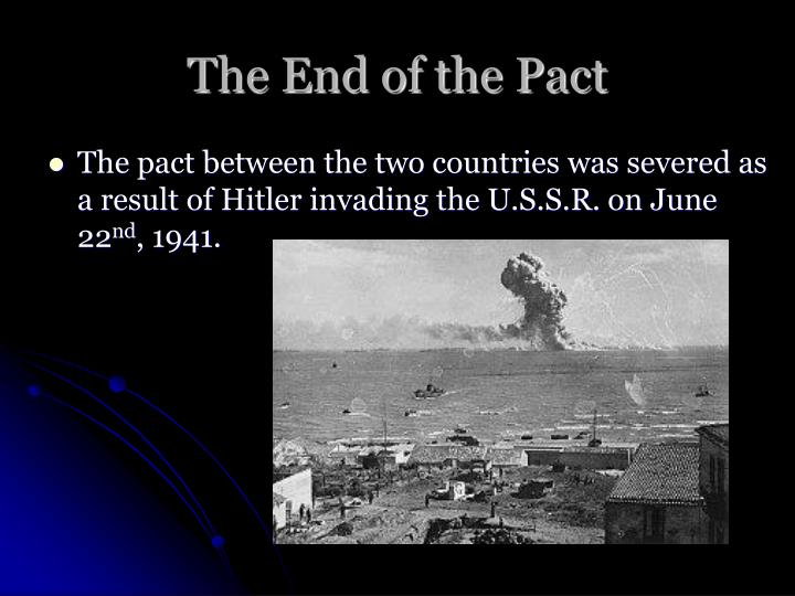 The End of the Pact