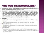 who were the moundbuilders