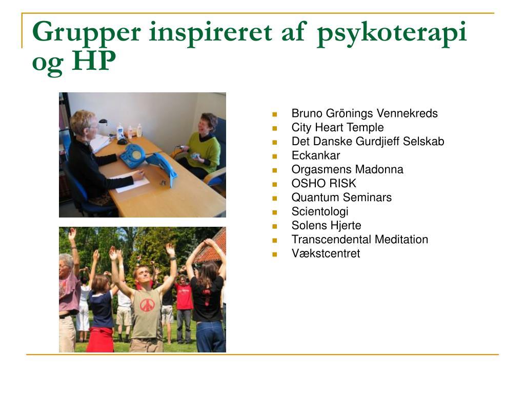 Grupper inspireret af psykoterapi og HP