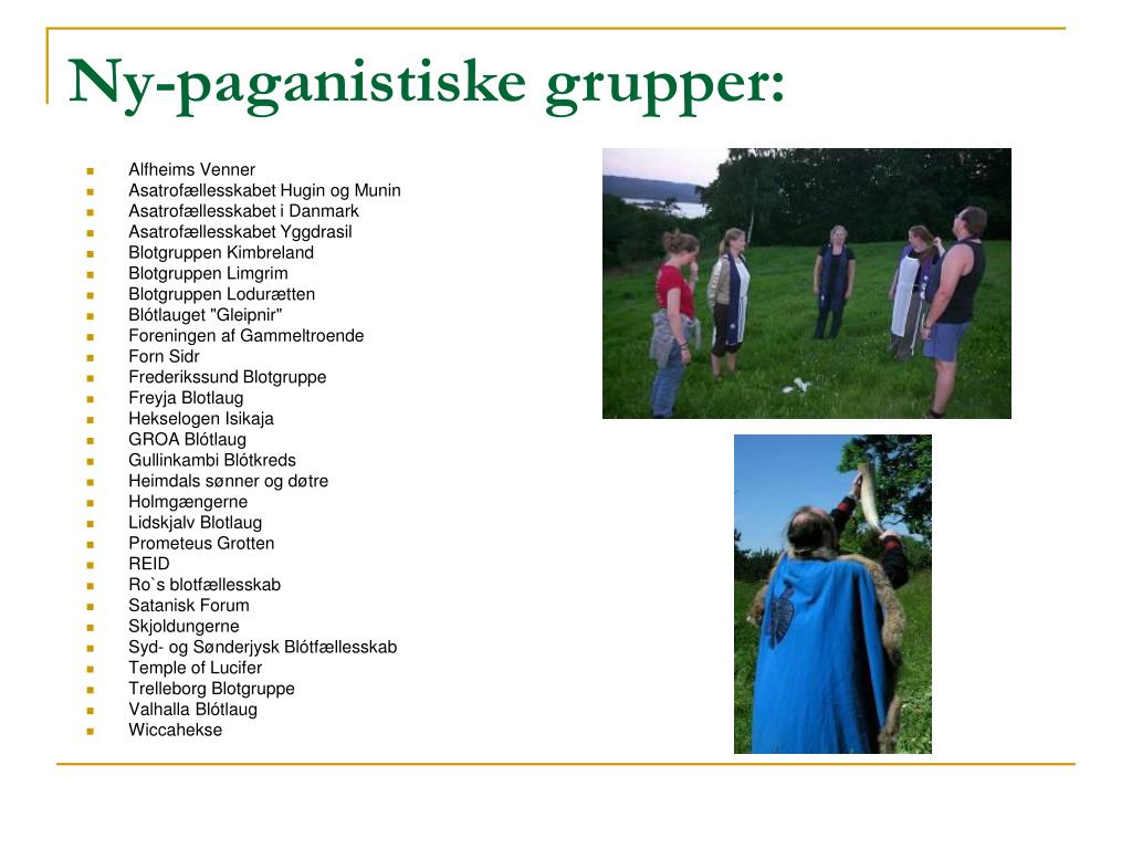 Ny-paganistiske grupper: