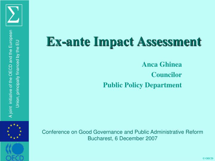 ex ante impact assessment n.