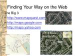 finding your way on the web