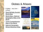 globes atlases