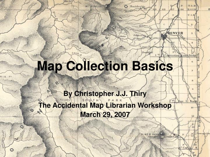 map collection basics n.