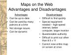 maps on the web advantages and disadvantages