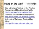 maps on the web reference