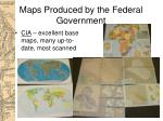 maps produced by the federal government