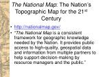 the national map the nation s topographic map for the 21 st century